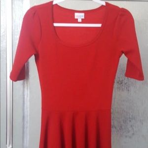 Lula Roe Red Dress, priced to sell!